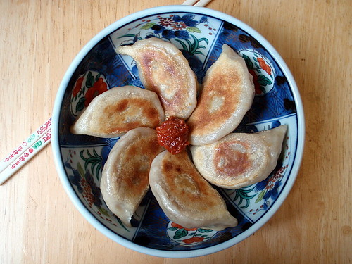 Bulgogi dumplings with gochujang