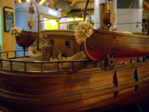 Hand-hewn boat