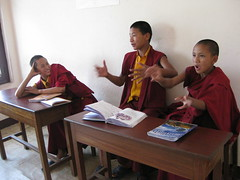 Monks Playing a Gesture Game