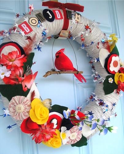 Bonjour Yarn Wreath