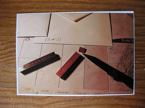 Step-by-step photo tutorial on using sealing wax, step 2