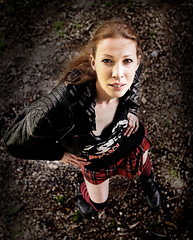 Angle (Szmytke) Tags: leather fashion socks pose scotland ginger model long kilt legs boots redhead jacket jodie tall tartan bigred kneehigh modelmayhem purestorm 162859 ravenember