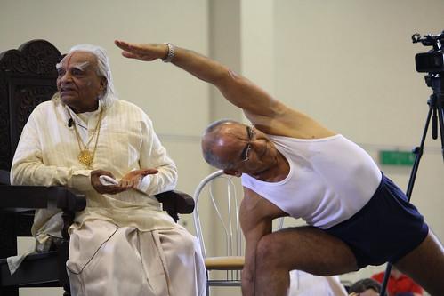B.K.S. Iyengar master-classes in  Moscow