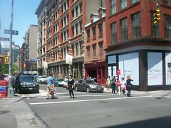 Greene street. (buttermilk*blue) Tags: city nyc newyorkcity people shopping manhattan soho greenestreet