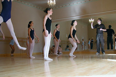 Jumping to it (Roving I) Tags: girls newzealand ballet reflections children dance action russia culture mirrors auckland chandeliers personalities schools jumps lessons leotards leaps