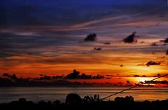 Sunset in Martinique... (jendayee) Tags: blue trees sunset red sea sky orange sun beautiful clouds martinique sightseeing caribbean perfectescapes multimegashot thebestofcengizsqueezeme2groups