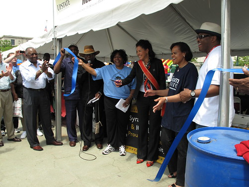 The Dr. Henry A. Washington Health Pavilion ribbon cutting was held at 12:40 p.m. Saturday, June 13, in Clinton Square. New York State first lady Michelle Paige Paterson cut the ribbon and served as the grand marshal for the days parade.