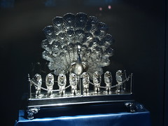 Peacock Menorah (blue)