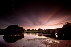 (Claire Hutton) Tags: uk longexposure bridge trees sunset england bw water field clouds river dorset ndfilter riverstour 10stop nd1000 nd110 bw110 leefilters whitemillbridge 06ndgrad 09ndgrad 06ndgradhe