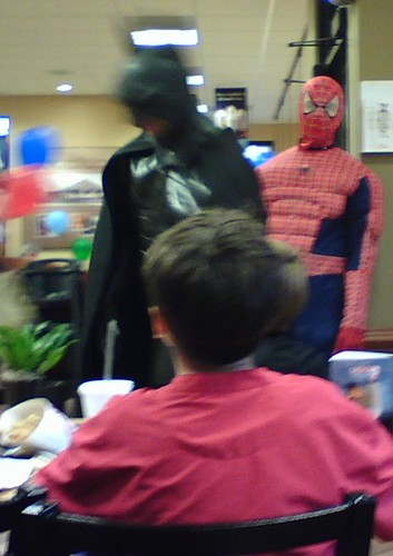 Spiderman at Chick Fil-A
