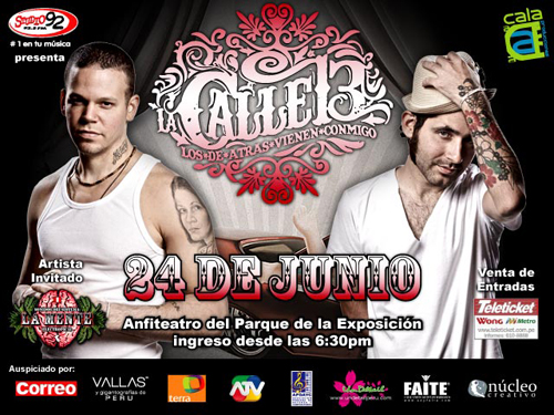 Sorteo Entradas Concierto Calle 13 en Lima