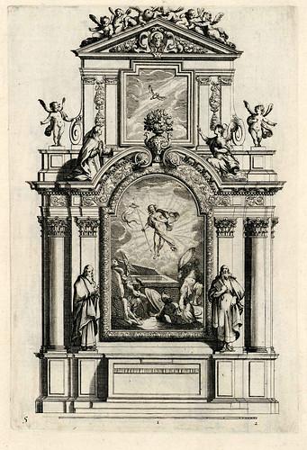 001-Livre d'architecture d'autels, et de cheminees- Barbet Jean-1633- © Institut national d'histoire de l'art