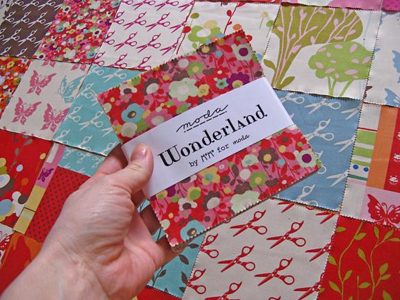 moda wonderland by momo quilt squares