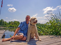 Me and Sampson (25~52) (Mark Muschett Photography) Tags: dog mark doodle goldendoodle sampson 52weeksfordogs 25~52 missed2weeks sampson~25