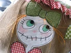 """Her Lovliness from Elmstreet"" (monaw2008) Tags: girl bag heart handmade fabric purse recycling applique handbag reused buket monaw monaw2008 curderoy bukiby"