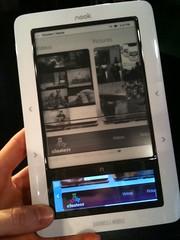 Clusterr.com on a Nook? E-Ink Multi-Media FTW! (kevinpereira) Tags: moblog kevin iphone pereira