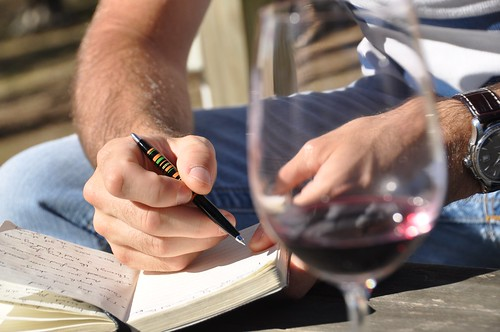 Wine notes or lyrics creation...