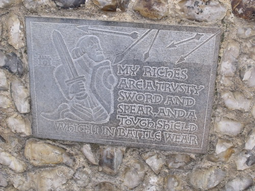 Norwich Castle - plaques - Sword and Spear