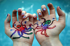 Octopus Love (Taylor Dawn Fortune) Tags: love water pool rainbow hands drawing space bubbles nails octopus butreally sharpiesarelove deepseaanimalsaresoawesome iwantanoctopustattoo loljkihatetattoos