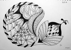 (Jo in NZ) Tags: ink drawing zentangle nzjo zendoodle