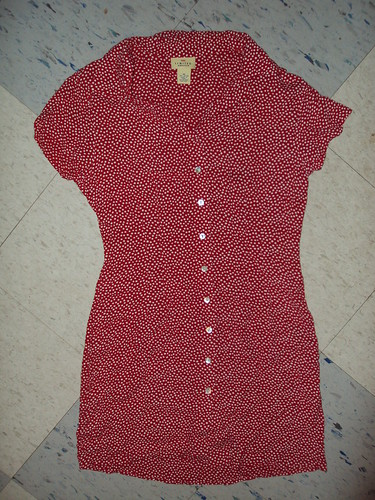 Red and White Polka Dot Limited Dress