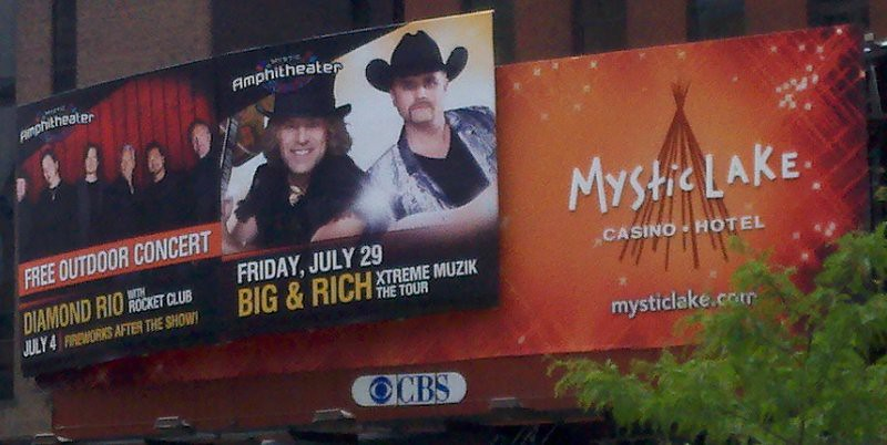 Big & Rich Mystic Lake Billboard