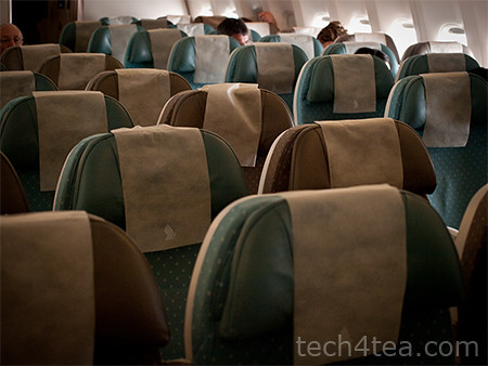 Empty seats on the SQ 326 from Singapore to Frankfurt