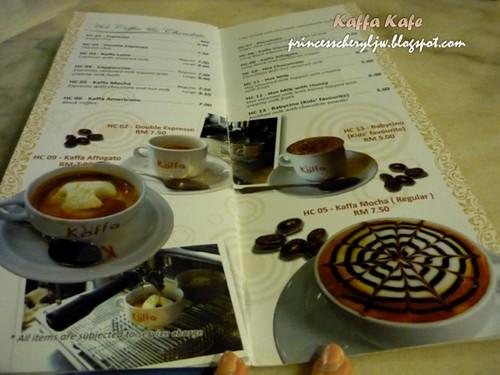 Kaffa Kafe menu 01