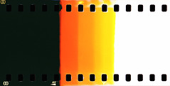 analog. (shoegazer) Tags: orange white abstract black film yellow analog lomo lca xpro minimal sprocketholes agfaprecisa100ct