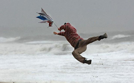 Blown away by the wind