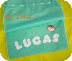 Para guardar as lembranas... (Dbora Campos) Tags: bag felt feltro personalizado feutrine sacola fieltro saquinhos
