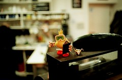 The Boss of the Joint (Georgie_grrl) Tags: birthday boss party toronto ontario 40th friend bokeh celebration attitude surprise pentaxk1000 pointing luigi cashregister bossy clipboard harpreet bloorstreetwest ihavenoideawhy cans2s rikenon12828mm savinggigi littleyellowdude fauxcucumber tinylittleorigamicrane