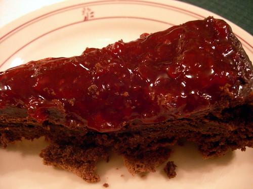 Chocolate raspberry tort