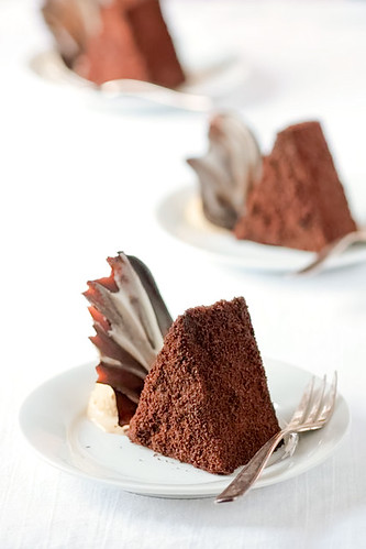 Chocolate Espresso Mousse Cakes & Latte Ice Cream