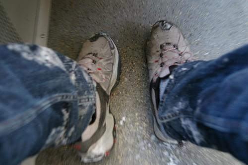 整隻腳都雪