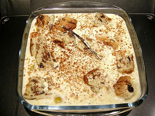蜜桃麵包布丁派-090127