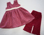 Wrap-front Jumper and Knit Capris - recycled yarn