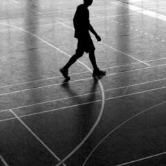 leaving the cercle (slipper buddha) Tags: lines licht football fussball step ft freiburg schatten halle boden slipperbuddha