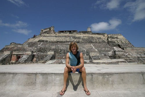 Me at the Castillo de San Felipe, Cartagena.