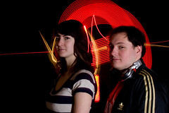 Red&Black Dj (art-now) Tags: light red music lightpainting black painting photo promo neon shoot dj led graff deejay 2009 musique redblack artnow