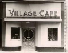 Village Cafe, Warren, Ohio, circa 1960s-1970s (Downtown Warren History) Tags: county street ohio st cafe exterior village market east 1940s oh warren trumbull