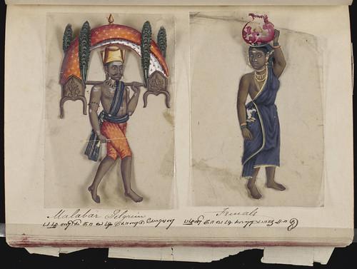 Malabar pilgrim - Female, Madura, 1837