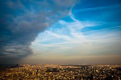 ~ There may be trouble ahead .... ~ (Janey Kay) Tags: janeykaylightroom paris sky ciel himmel blue bleu blau baladesparisiennes lifeinthecity cityscapes lavieenville stadtschaften stadtleben city ville stadt bp 2009 parisiledefrance parigi france frankreich francja paryz home chezmoi janeykay iloveparis clouds wolden nuages cielo cu nuvem nube