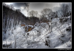 devil's bridge in the winter scene (Mariusz Petelicki) Tags: bridge winter snow bravo most zima nieg czerna canon400d mariuszpetelicki