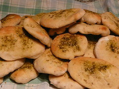 a photo of middle eastern flatbreads