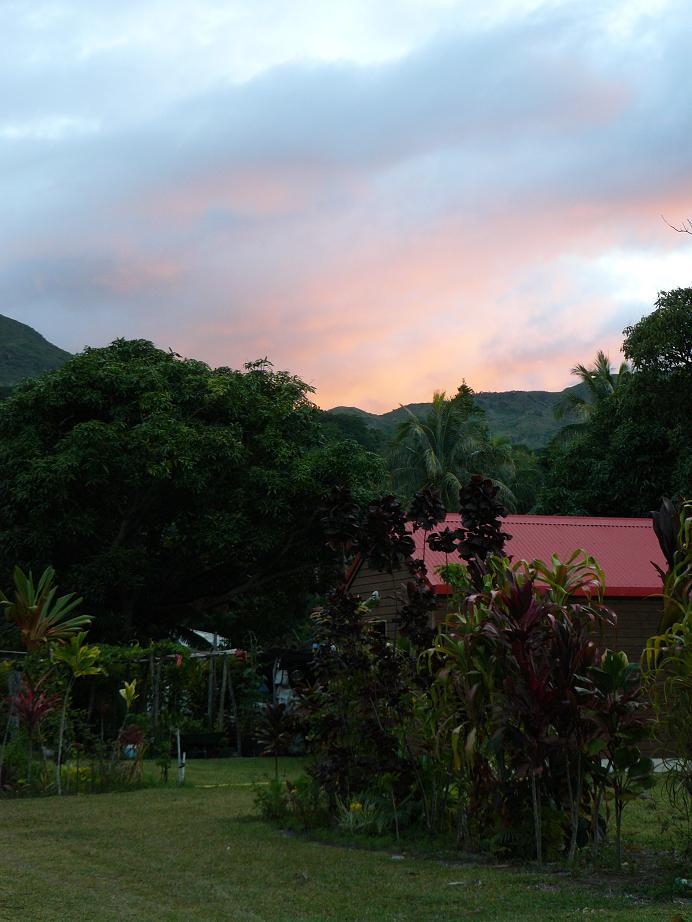 coucher de soleil à touho mission