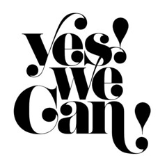 Yes! We Can! (daylight444) Tags: typography fonts typeface swash didoni