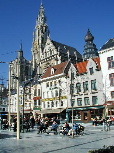 be03b046 Groenplaats, Antwerp Belgium 2003 por CanadaGood.