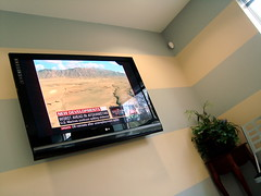 our dental office has flat screen tv's