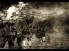 Civil War.. (jetbluestone) Tags: english sepia war civil muskets soe hdr gunsmoke englishcivilwar